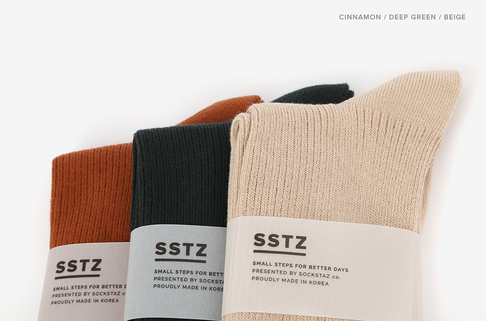 삭스타즈(SOCKSTAZ) SSTZ 컬러립 양말 5P PACK